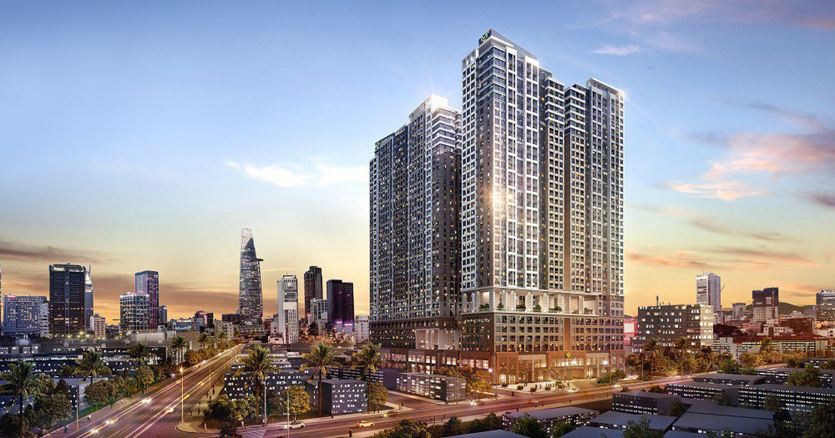 A view of The Grand Manhattan, a luxury apartment project in downtown HCMC.